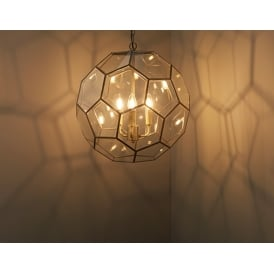 Miele Modern Three Light Ceiling Pendant In Antique Brass Finish 73560