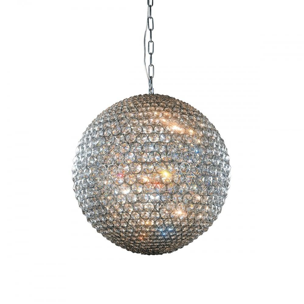 Milano large crystal globe pendant light