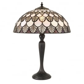 Missori Tiffany Medium Table Lamp With Scalloped Shaped Glass 71091