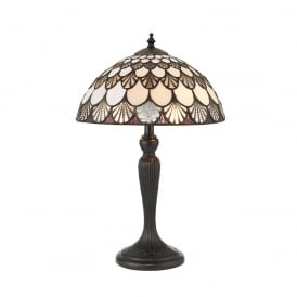 Missori Tiffany Small Table Lamp With Scalloped Shaped Glass 70368