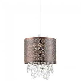 Moccas Non Electric Ceiling Pendant Light in Antique Brass Finish NE-MOCCAS-AB