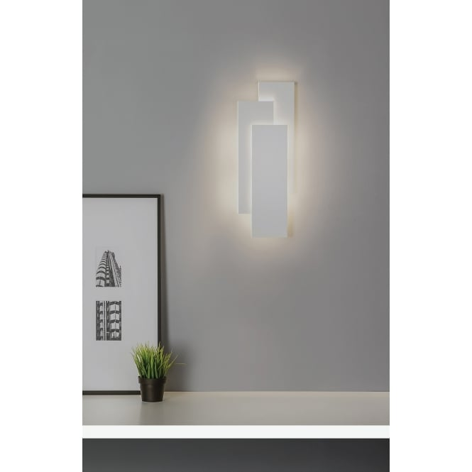 Astro Lighting Modern 3 Rectangle Wall Light In White Finish EDGE 7805