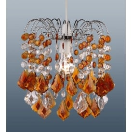 Modern Acrylic Crystal Ceiling Pendant Light Lamp Shade Chandelier Shades, Amber 32