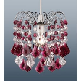 Modern Acrylic Crystal Ceiling Pendant Light Lamp Shade Chandelier Shades, Ruby 32