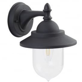 Modern Black IP44 1 Light Outdoor Exterior Wall Light