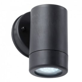 Modern Black LED Outdoor Wall Spotlight Downlighter - Rustproof Polycarbonate