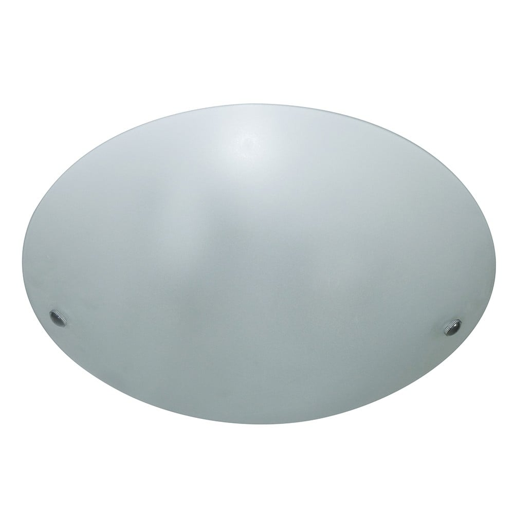 Dome Ceiling Lights: THLC Modern Frosted White Glass Round Flush Dome Ceiling