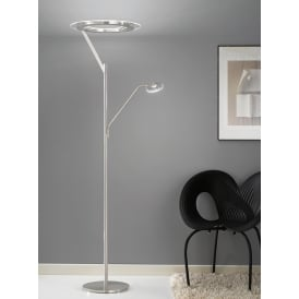 Modern LED Mother And Child Floor Lamp In Satin Nickel Finish SL214