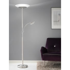 Modern LED Mother And Child Floor Lamp In Satin Nickel Finish SL216