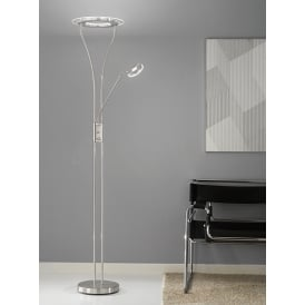 Modern LED Mother And Child Floor Lamp In Satin Nickel Finish SL217