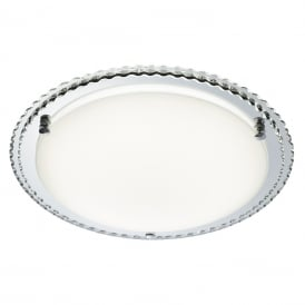 Modern LED Round Flush Ceiling Light With Mirrored Outer Ring 2332-31