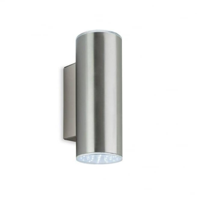 Firstlight Modern Outdoor LED Up And Down Wall Light In Stainless Steel Finish IP44 4214
