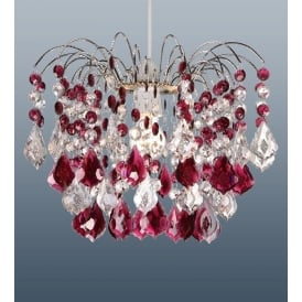 Modern Red / Garnet Acrylic Ceiling Pendant Light Lamp Chandelier Shade