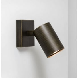 Modern Single Wall Spotlight in Bronze Finish Ascoli 6145