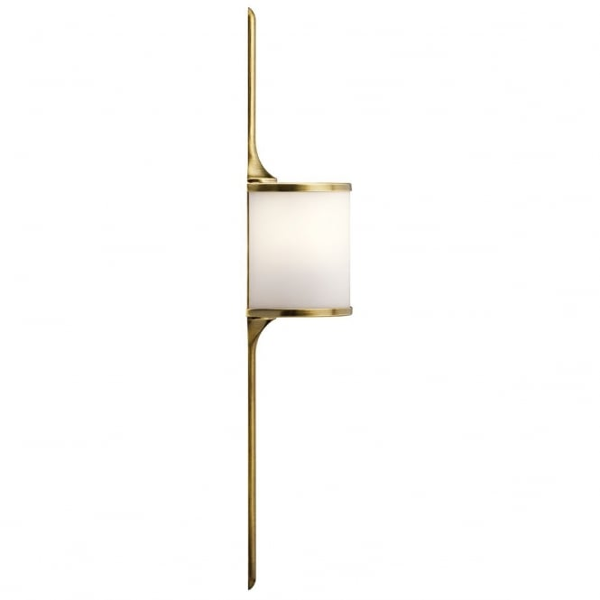 Elstead Mona Stylish LED Small Wall Light In Natural Brass Finish IP44 KL/MONA/S NBR