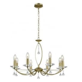 Monaco 8 Light Duo Mount Ceiling Fitting In Matt Gold Finish FL2385-8