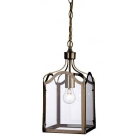 Monarch Stylish Ceiling Pendant Lantern In Antique Brass Finish 8637AB