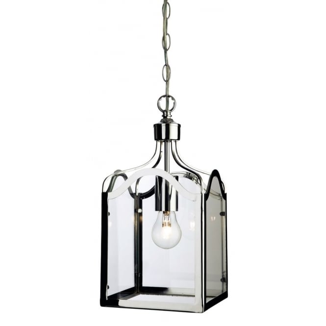 Firstlight Monarch Stylish Ceiling Pendant Lantern In Chrome Finish 8637CH