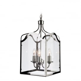 Monarch Stylish Large Ceiling Pendant Lantern In Chrome Finish 8638CH