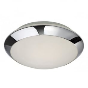 Mondo Flush Glass And Chrome Bathroom Ceiling Light 6099