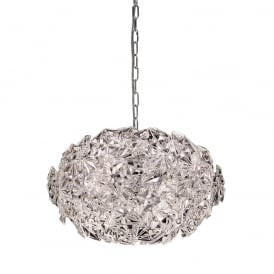 Mosaic 6 Light Crystal Glass Ceiling Pendant Fitting In Chrome Finish FL2352/6