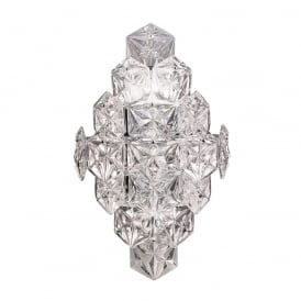 Mosaic 6 Light Crystal Glass Wall Bracket In Chrome Finish FL2351/6