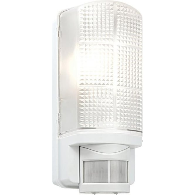 Endon Motion PIR Exterior White Wall Light with Frosted Polycarbonate Diffuser IP44 48740 ...