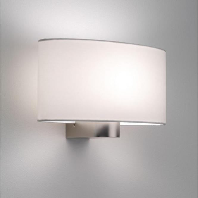 Astro Lighting Napoli Contemporary Matt Nickel Wall Light with White Shade 0881 + 4054