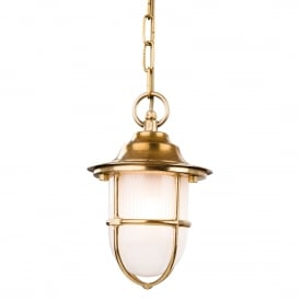 Nautic Outdoor Ceiling Pendant Light In Polished Brass Finish 5923PB