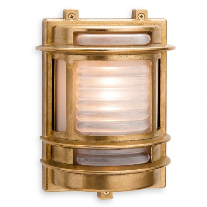 Firstlight Nautic Outdoor Rectangular Wall Light With Frosted Glass Diffuser 5924