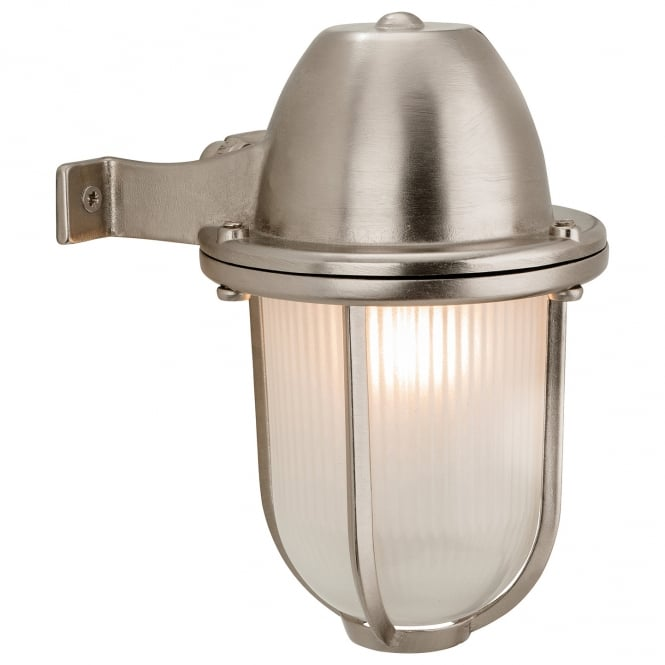 Firstlight Nautic Outdoor Solid Brass Wall Light in Nickel Finish 3435NC