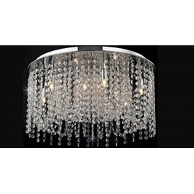 Navarre Large Crystal Semi Flush Ceiling Light In Chrome Finish CFH411203/09/L/PL/CH
