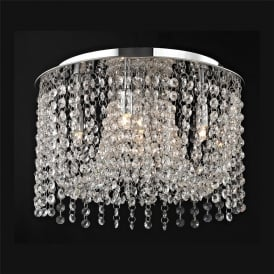 Navarre Medum Crystal Semi Flush Ceiling Light In Chrome Finish CFH411203/05/M/PL/CH
