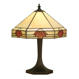 Nevada Tiffany Small Table Lamp In Art Deco Style 64287