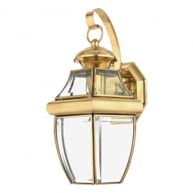 Newbury Outdoor Medium Wall Lantern In Polished Brass Finish QZ/NEWBURY2/M