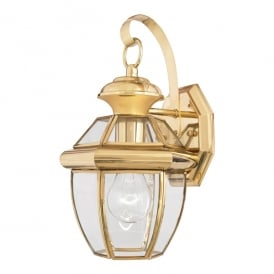Newbury Outdoor Small Wall Lantern In Polished Brass Finish QZ/NEWBURY2/S