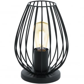 Newtown Industrial Table Lamp In Black Finish 49481