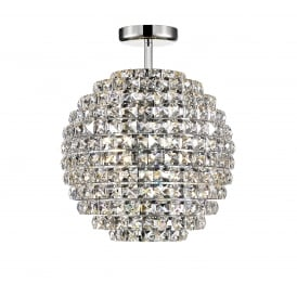Nord Stylish Crystal Semi Flush Ceiling Light In Chrome Finish CFH608241/SF/CH