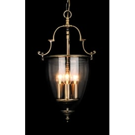 Norfolk Classic 3 Light Ceiling Lantern In Antique Brass Finish LG201121/03/AB