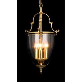 Norfolk Classic 3 Light Ceiling Lantern In Polished Brass Finish LG201121/03/PB