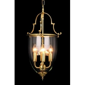 Norfolk Classic 4 Light Ceiling Lantern In Polished Brass Finish LG201121/04/PB