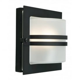 BERN BLACK aluminium outside light, in black, IP54