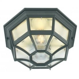 LA8 Latina Exterior Flush Lantern In Verdigris Or Black Gold