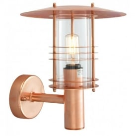 ST1 Stockholm Copper exterior copper wall lantern, IP54
