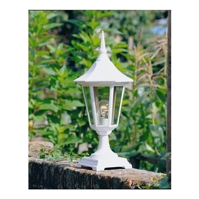 Norlys Lighting V3 WHITE Valencia Exterior Pedestal