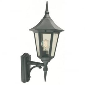 Valencia V1 Black/Gold Exterior Wall Lantern IP44