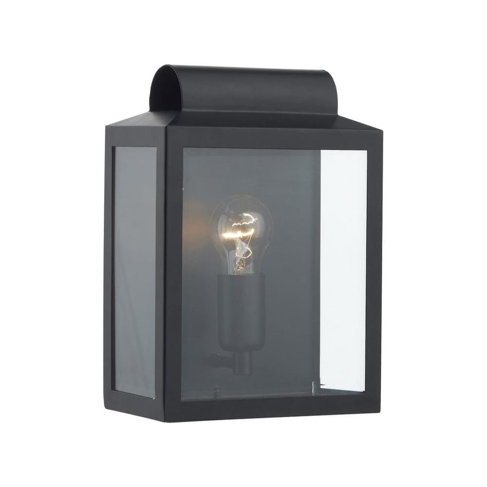 Porch Light Box: Notary Modern Black IP44 Outdoor Box Wall Lantern