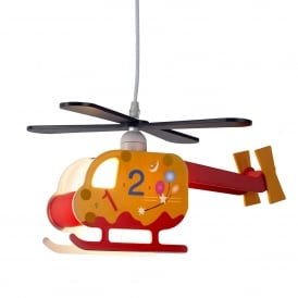 Novelty Helicopter Children's Numbered Design Ceiling Pendant Light 0101