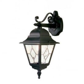 NR2 Norfolk outside traditional black wall light, IP44