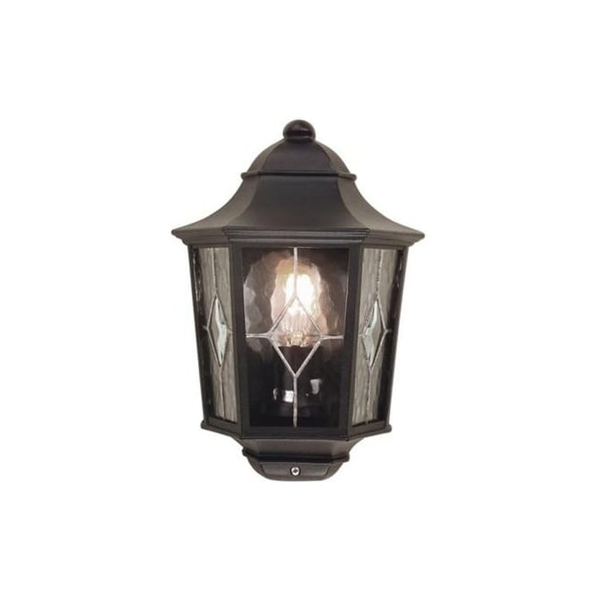 Elstead NR7/2 Norfolk traditional black half exterior lantern, IP43